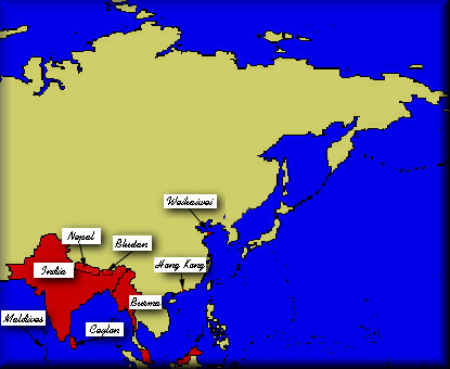 British Empire: The Map Room: Asia