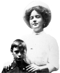 Katherine Mansfield with her nephew in 1907