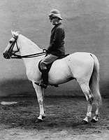 Roberts on his horse Volonel
