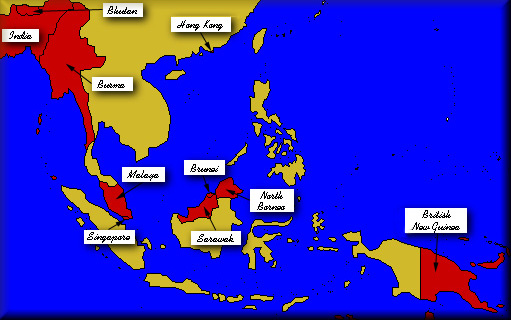 South East Asia clickable map