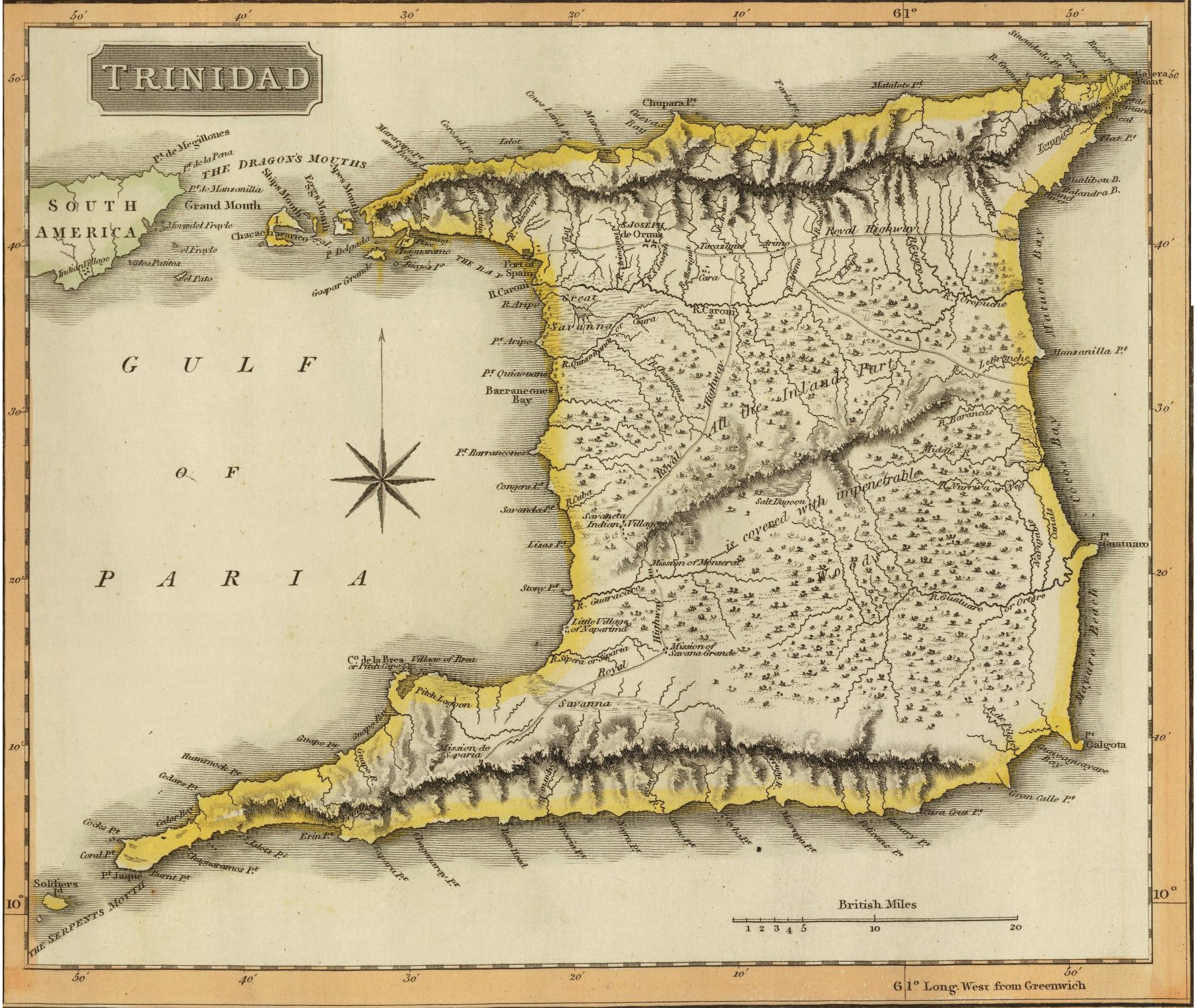 Map Of Uk 1800.Caribbean Trinidad And Tobago