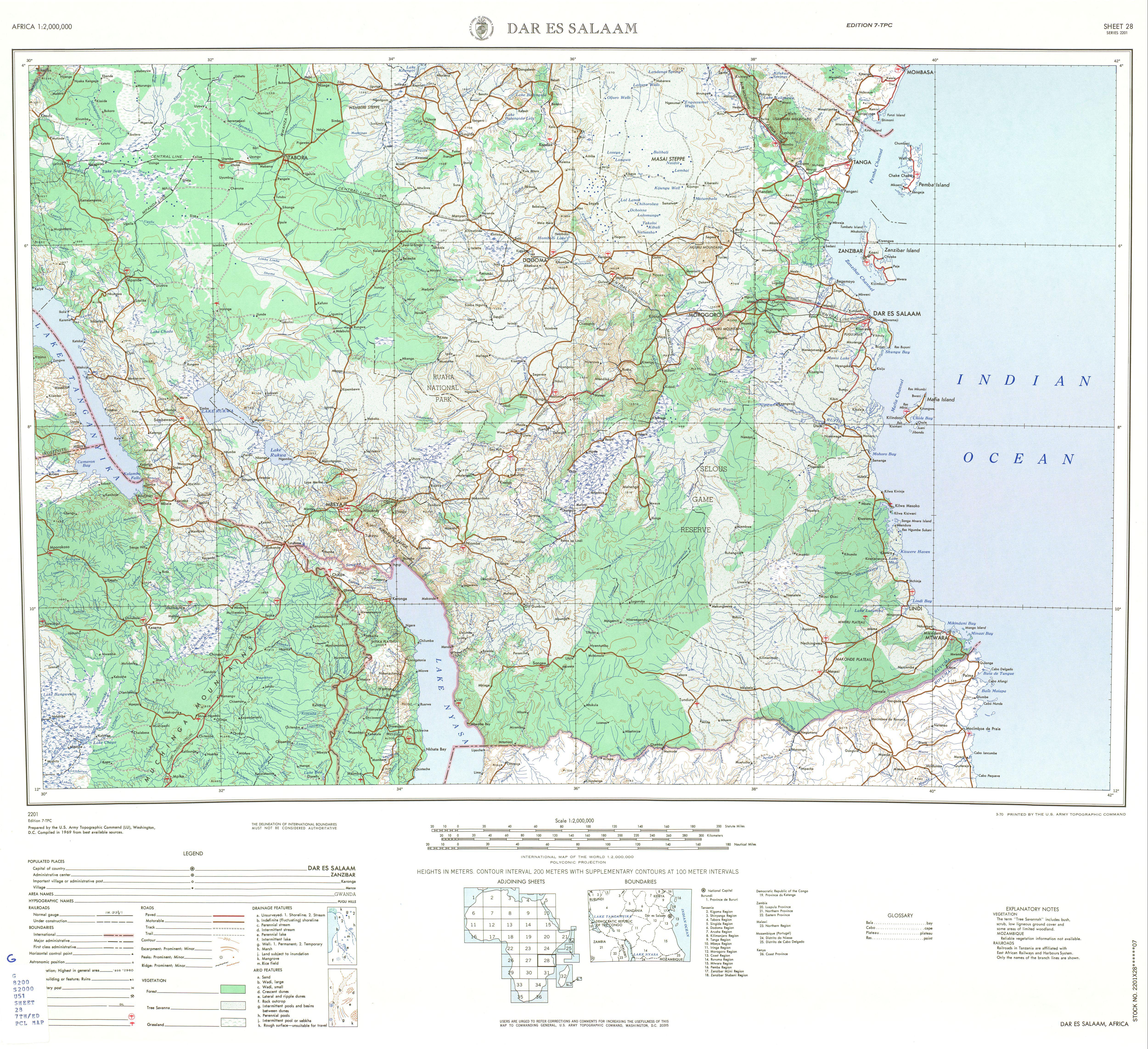 Tanganyika mandate 1969 map of southern tanzania gumiabroncs Choice Image