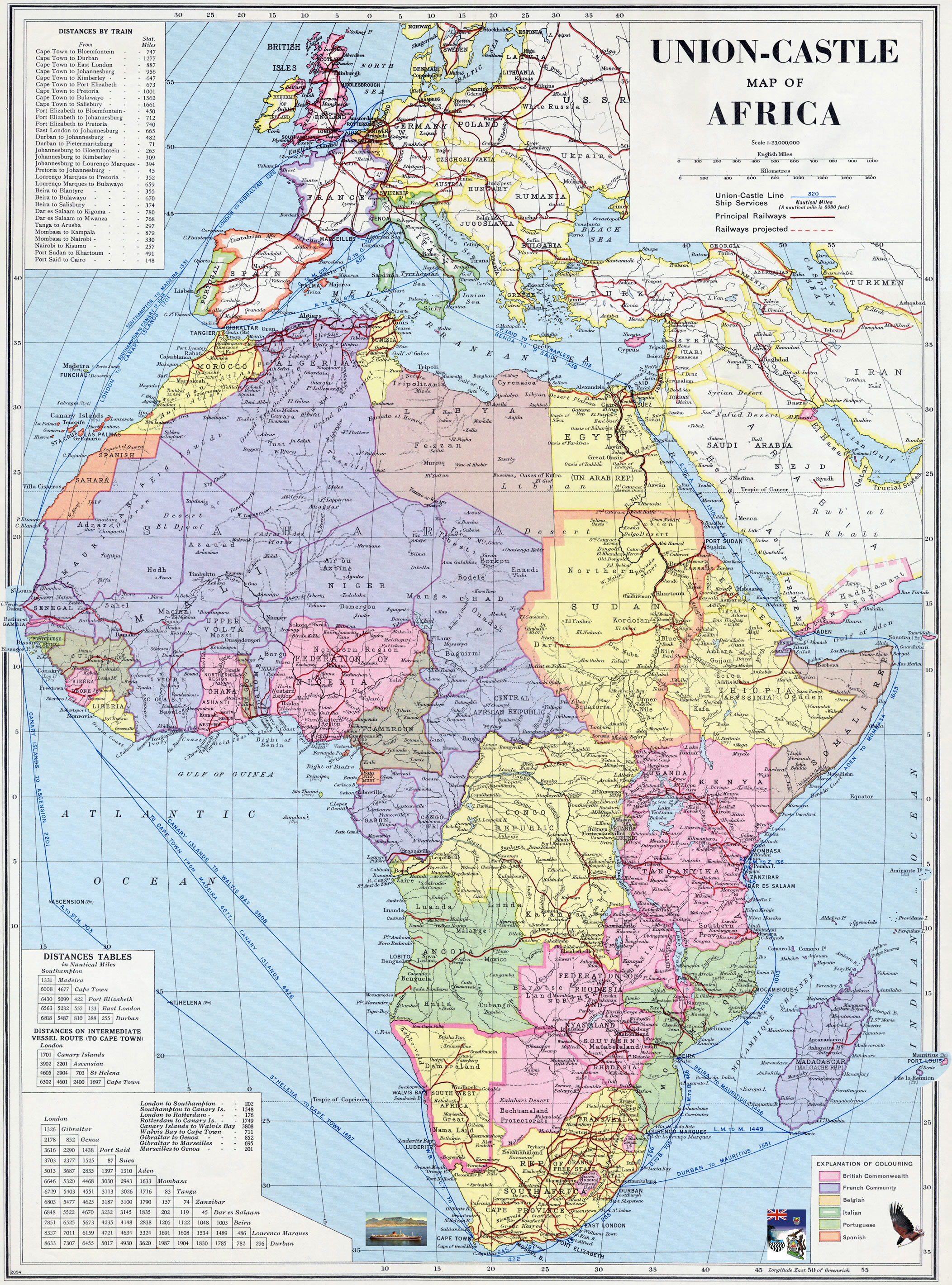 1960 Map Of Africa.Map Of Africa 1960