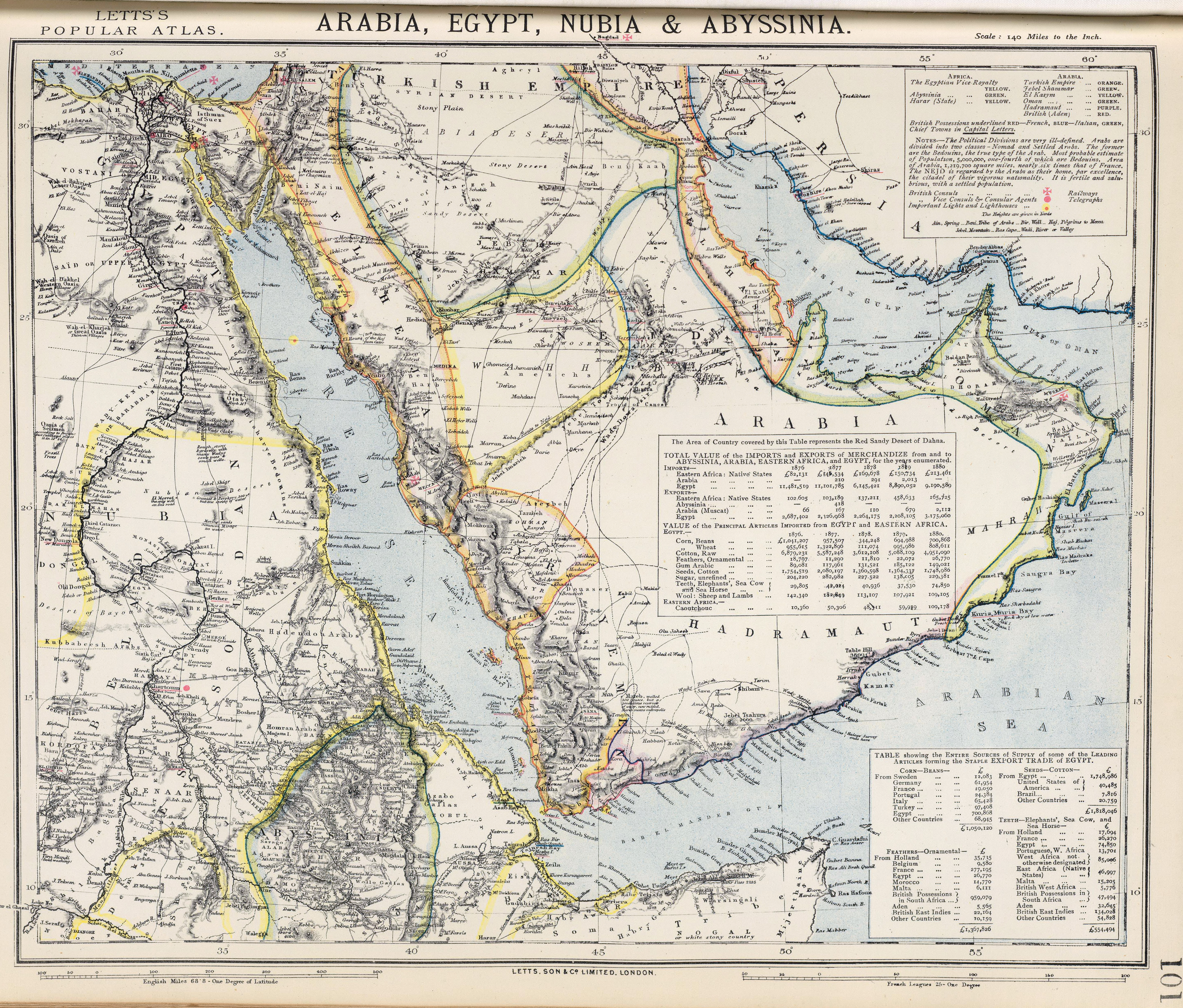 The British Empire And The Middle East Maps - Map of egypt and middle east