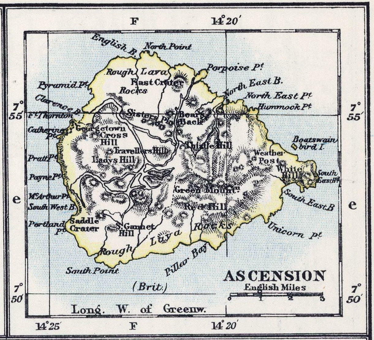 Ascension Island Colony - Ascension island google map