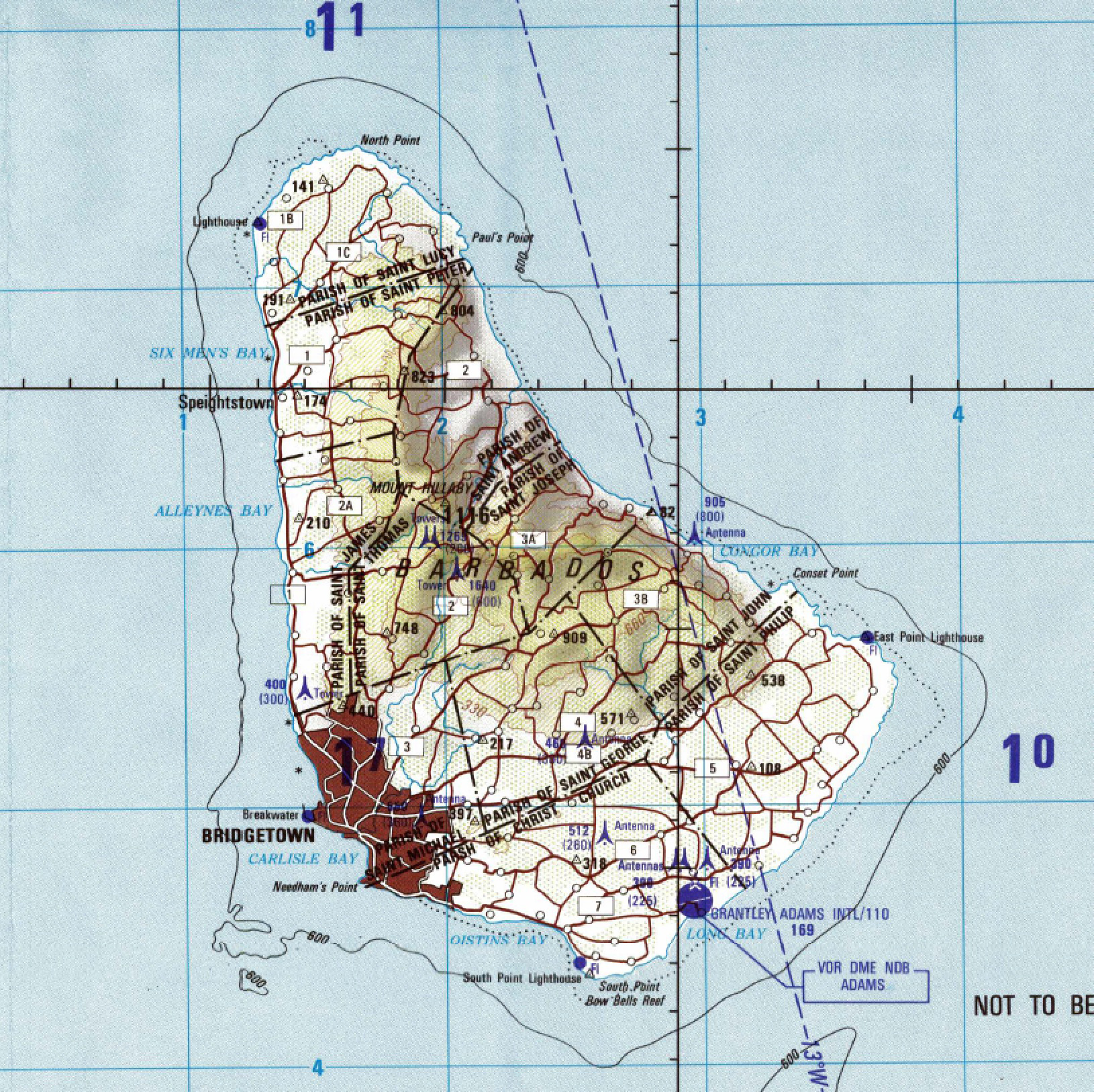 Hurricane janet barbados 1955 1980 map of barbados publicscrutiny Choice Image