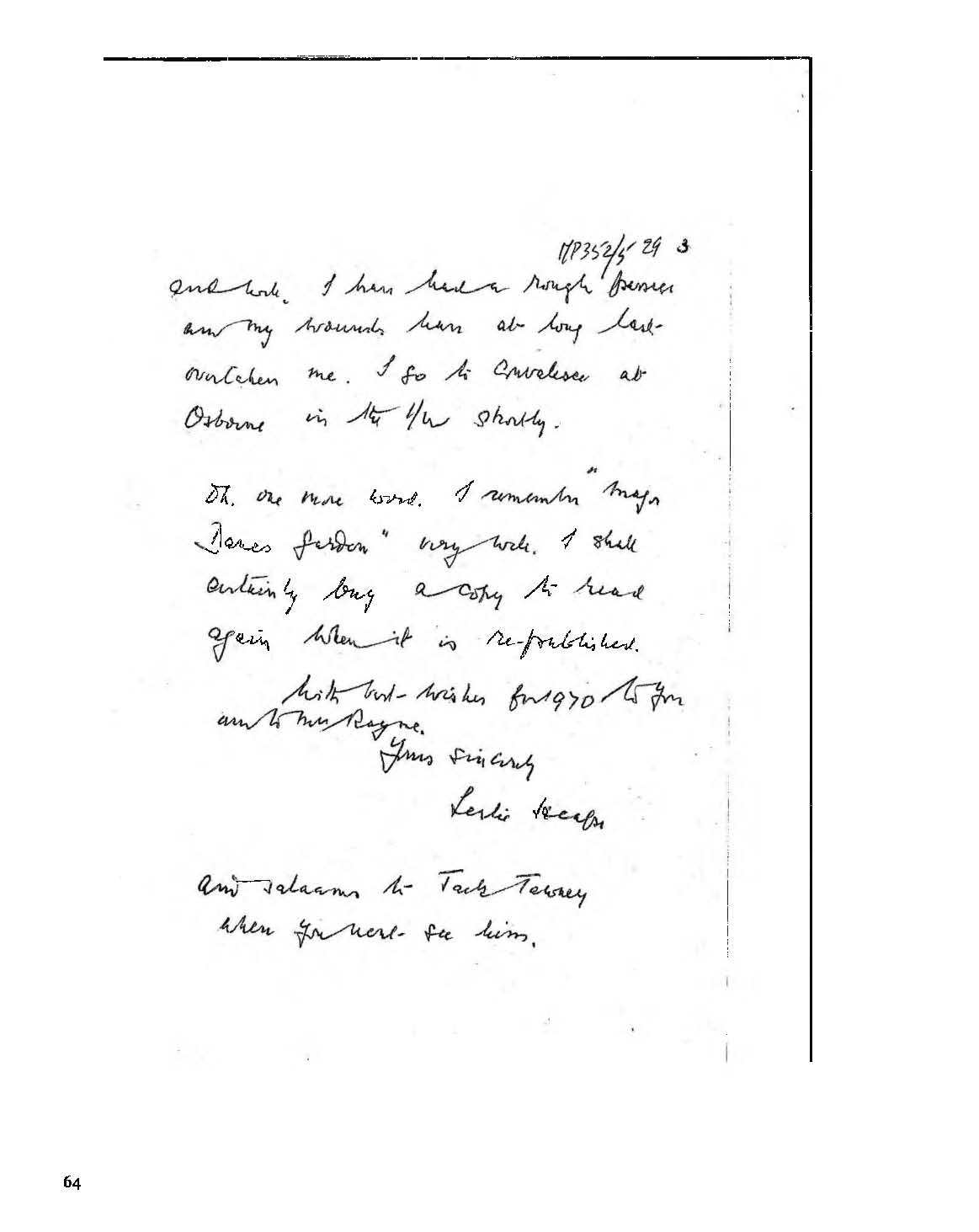 Letter to Dame Margery Perham
