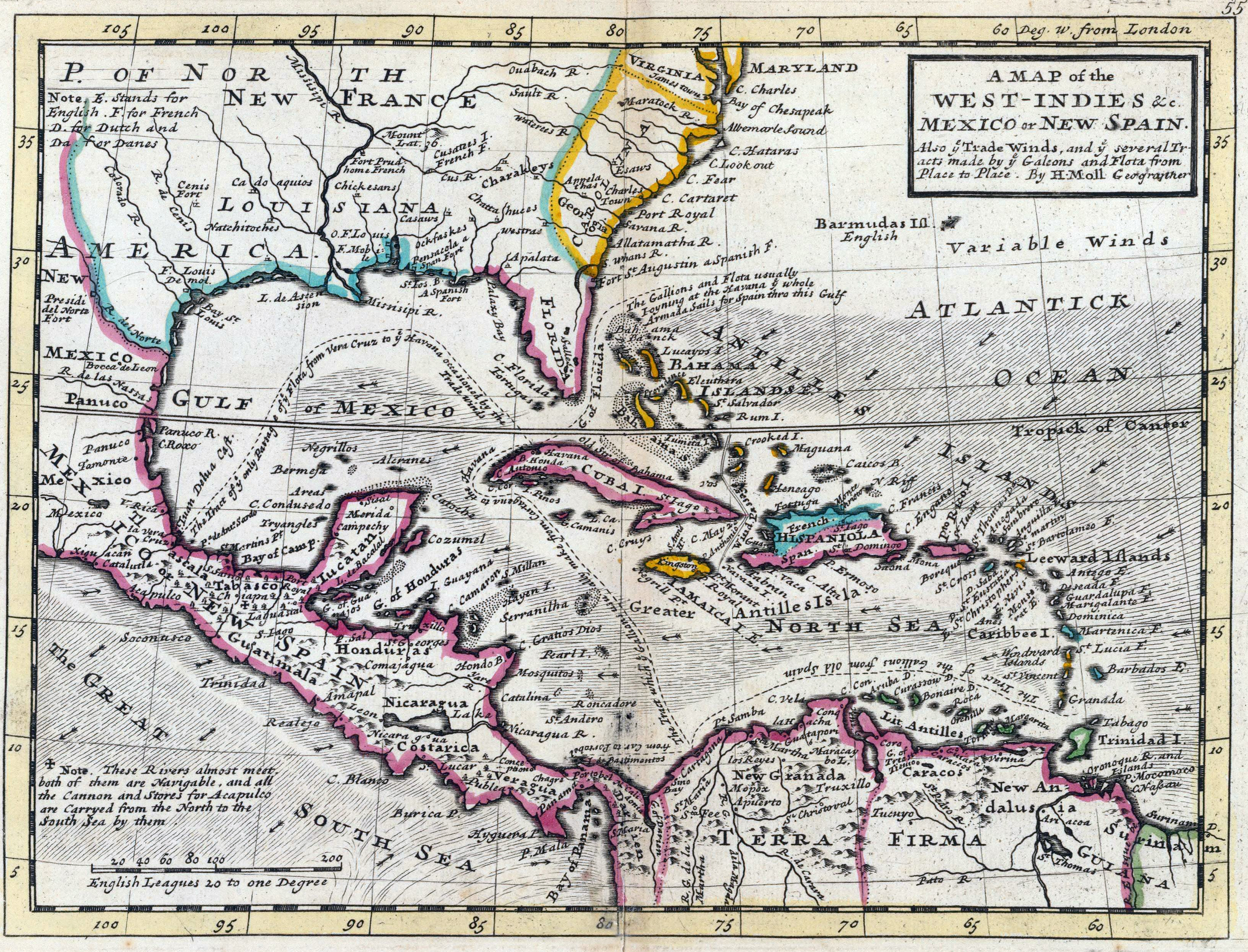 The British Empire in the Caribbean Maps