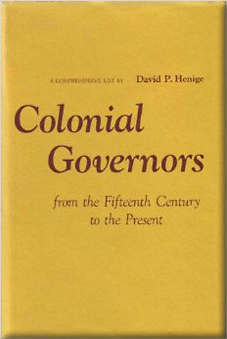 Colonial Governors