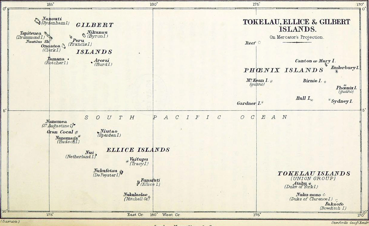 Gilbert And Ellice Islands Map