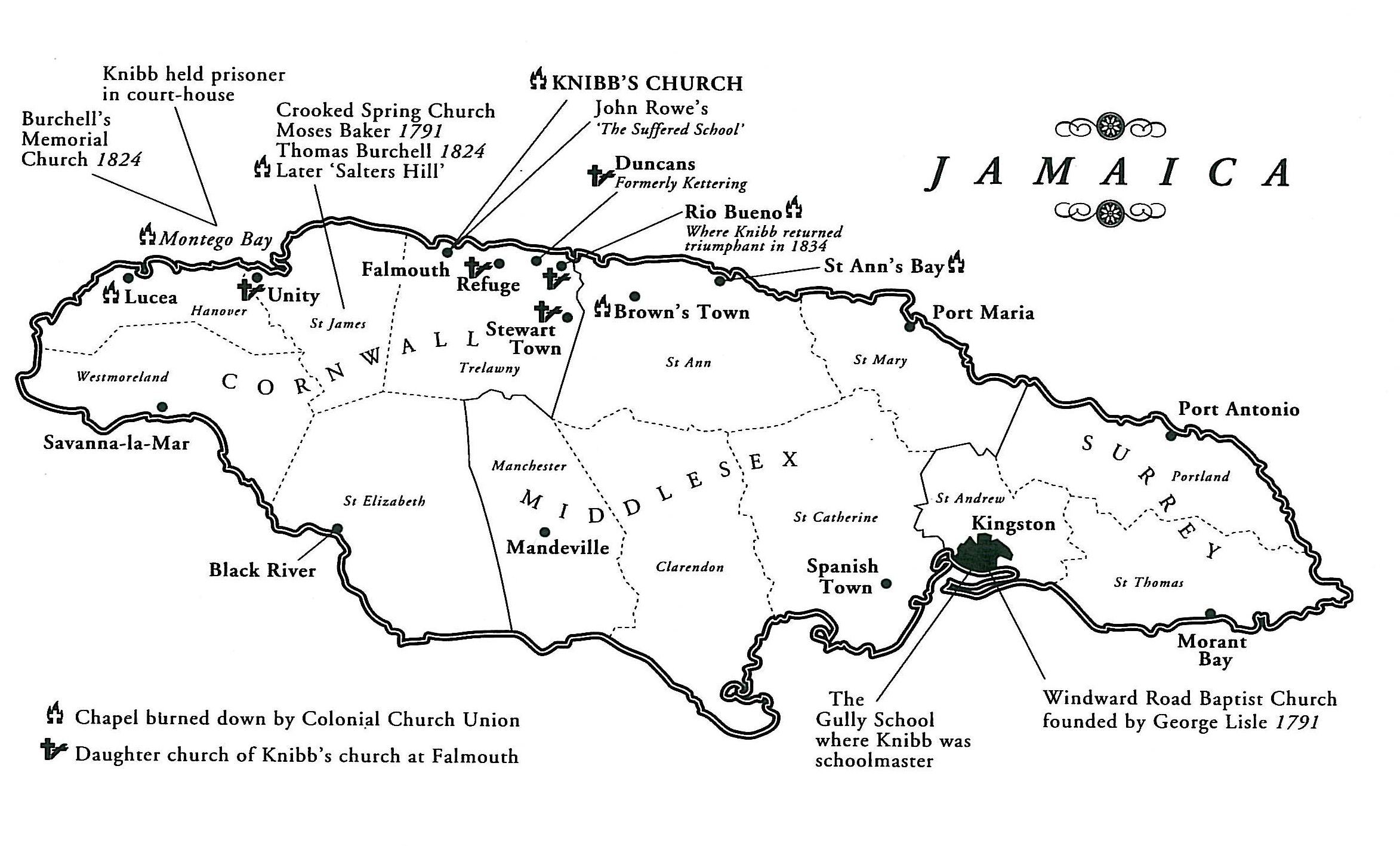jamaica 1901 map