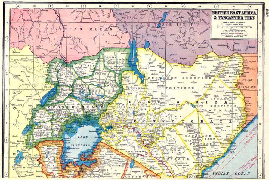 Kenya colony 1920 map of kenya gumiabroncs Images