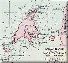 map of Labuan