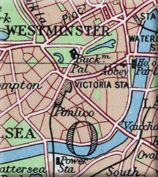 1950s map of London