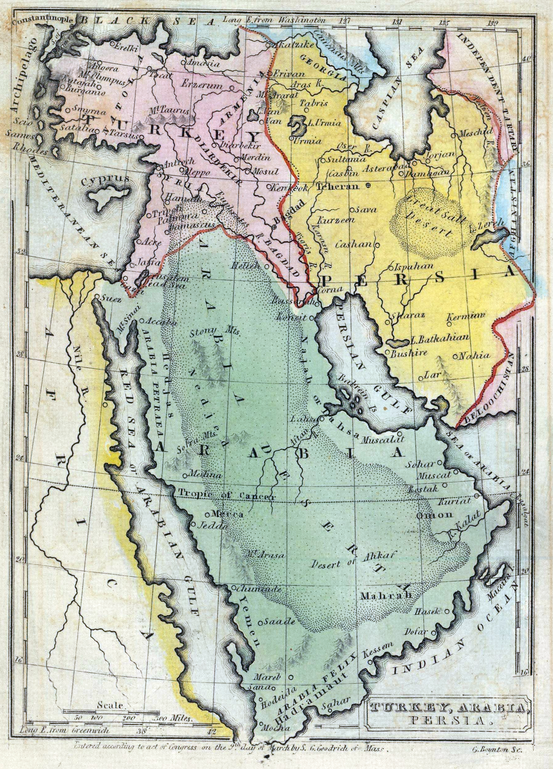 The British Empire And The Middle East Maps - Middle east political map 1900