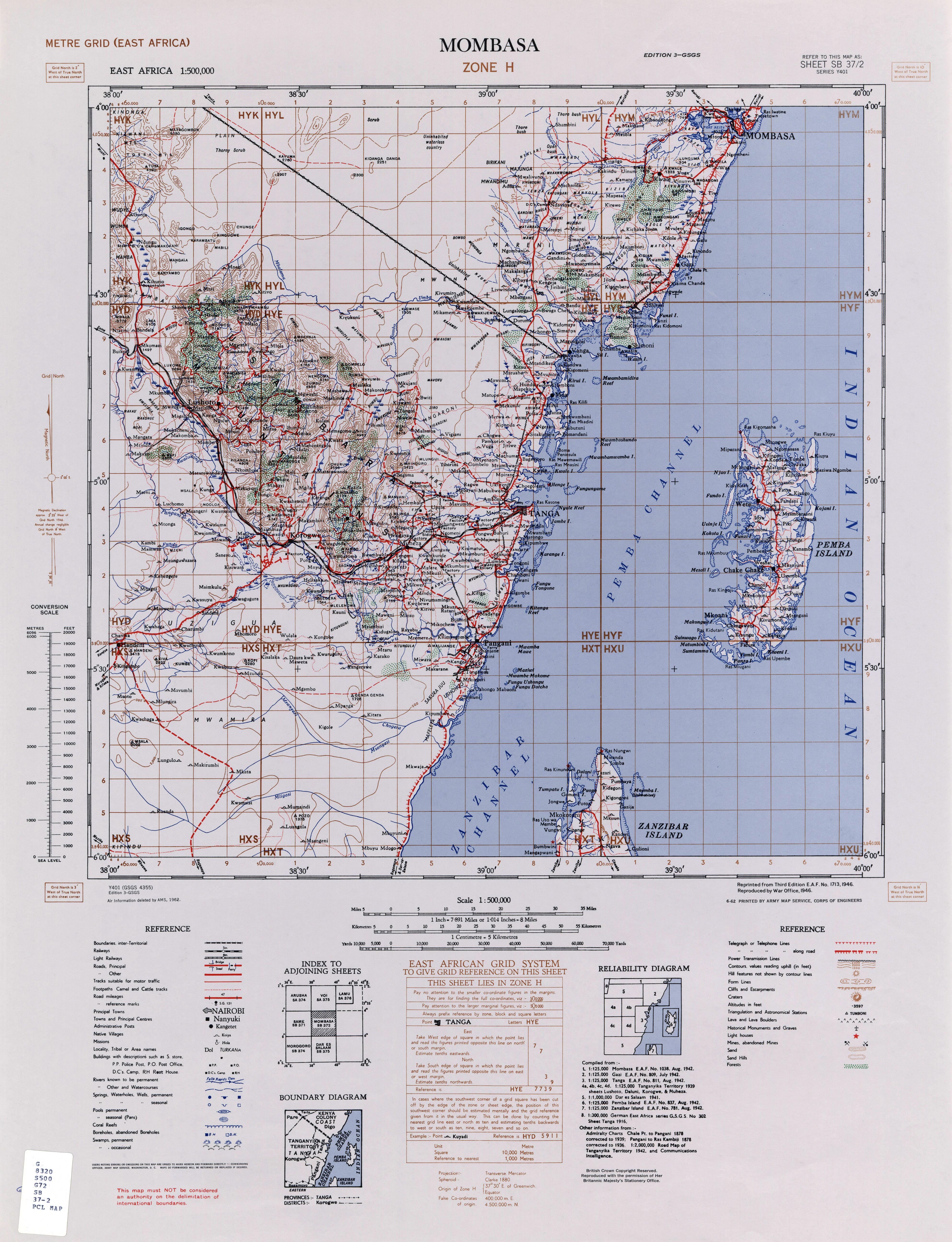 Tanganyika mandate 1962 map of north east tanganyika gumiabroncs Image collections