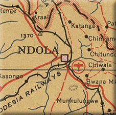 Map of Northern Rhodesia