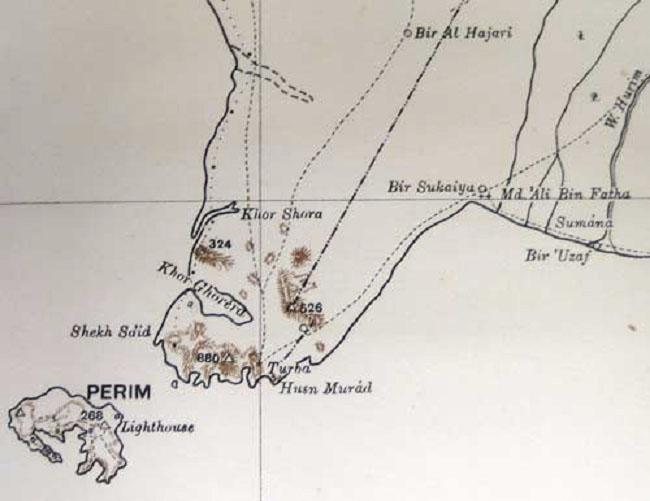 Perim Island Map