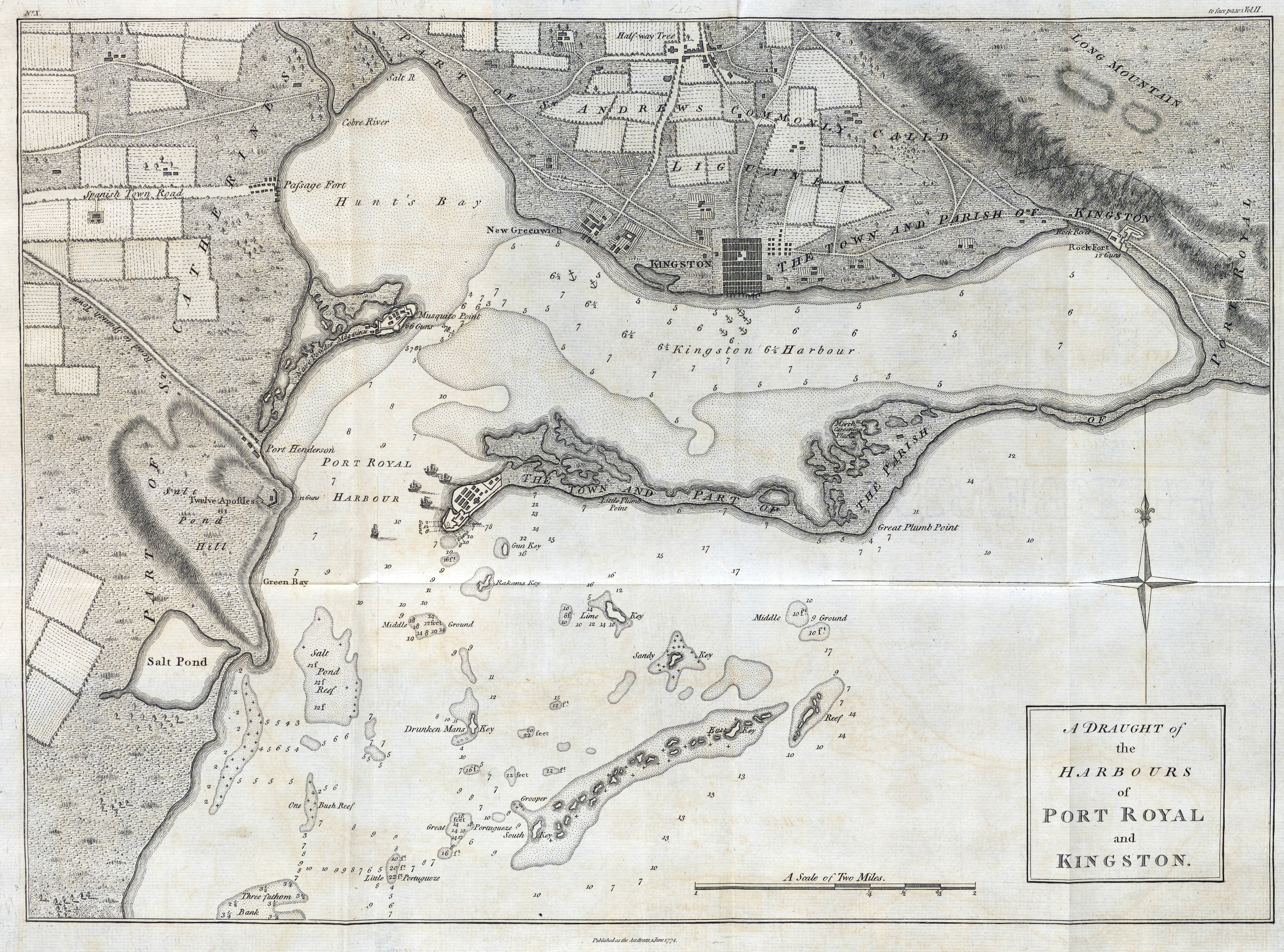 1774 Map Of Port Royal