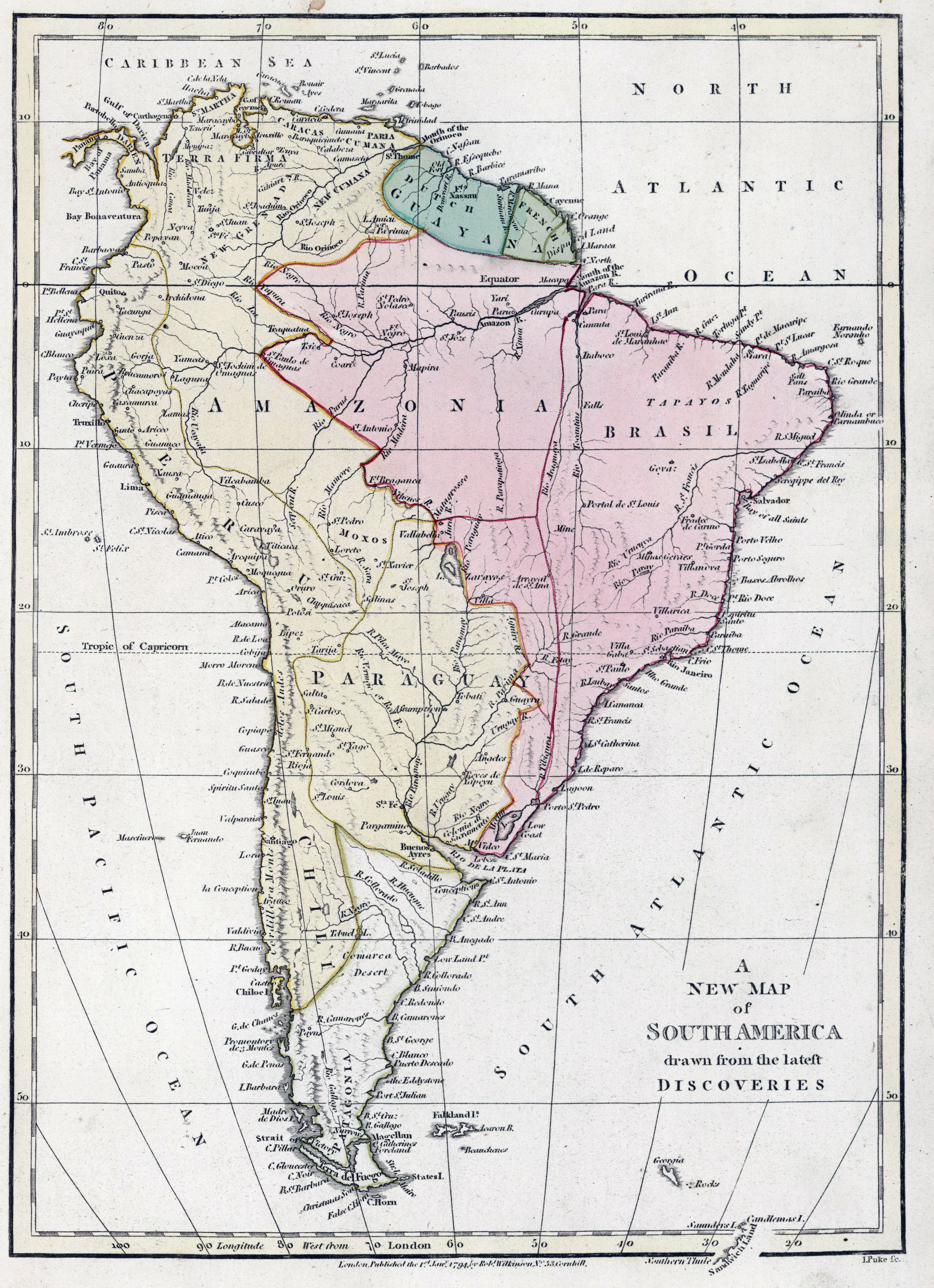 Map Of America In 1800.The British Empire And South America Maps