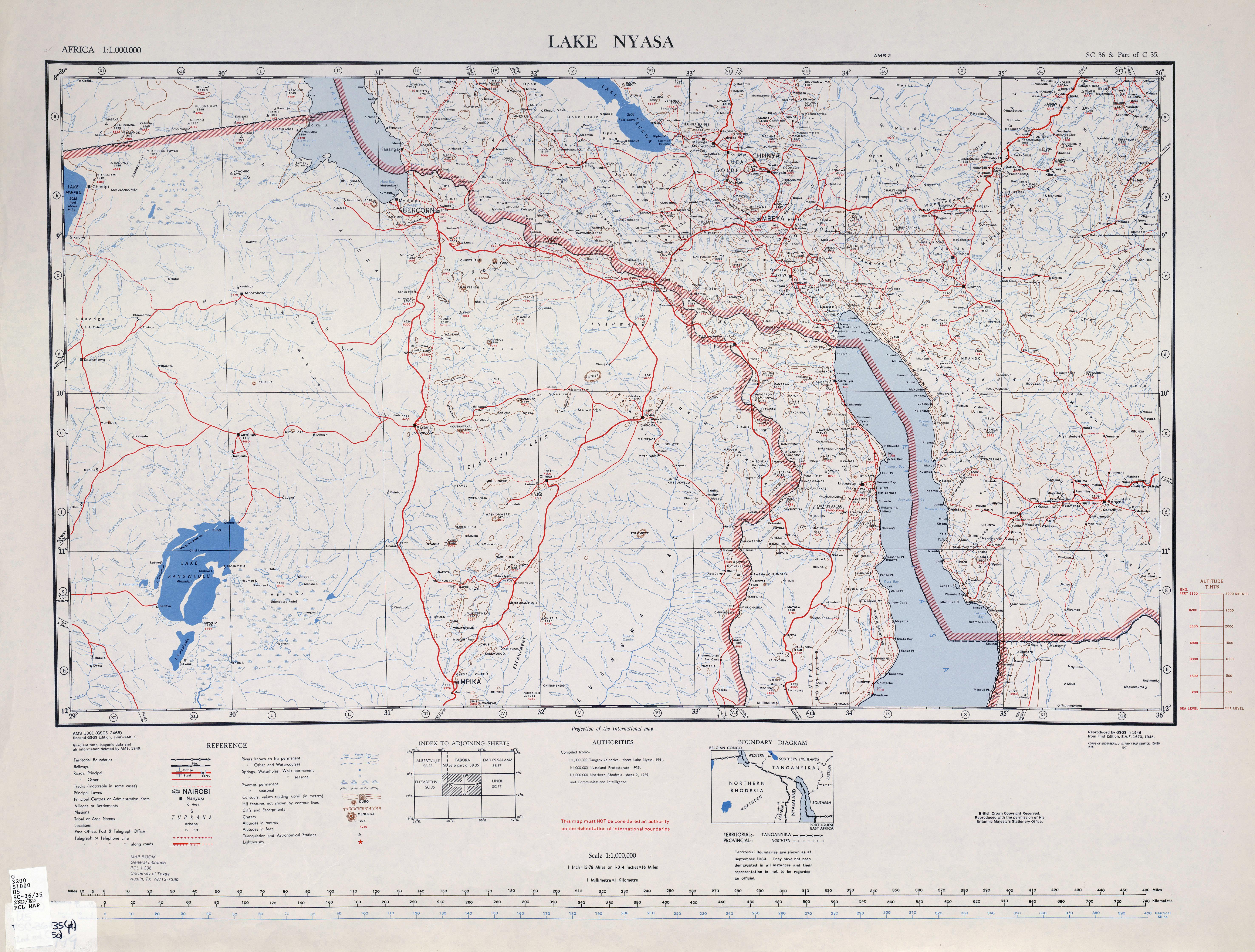 Tanganyika mandate map of south western tanganyika 1949 gumiabroncs Choice Image