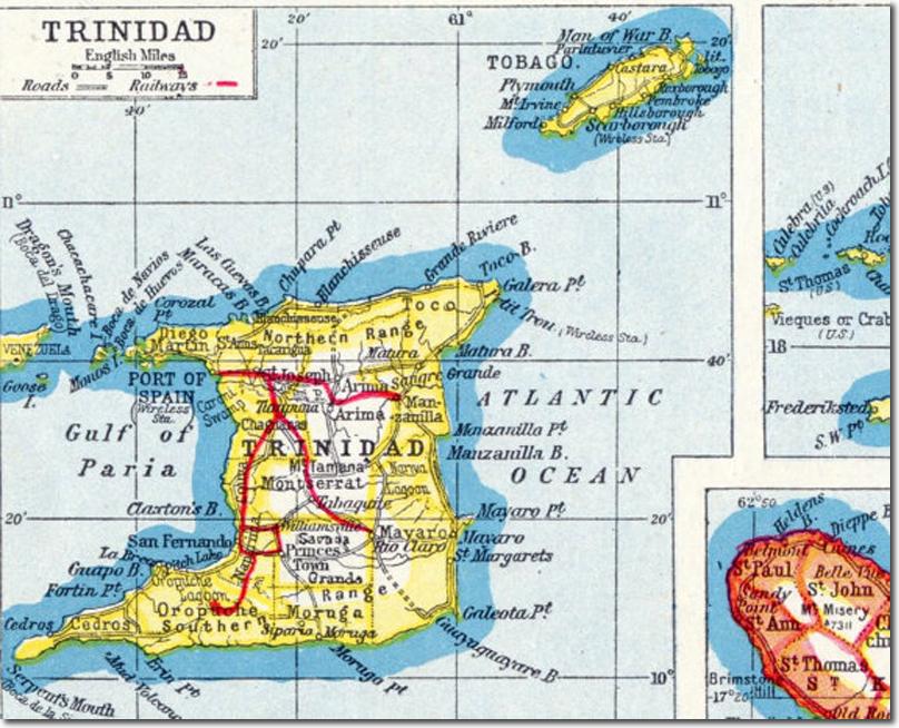 Caribbean Trinidad And Tobago - Trinidad map