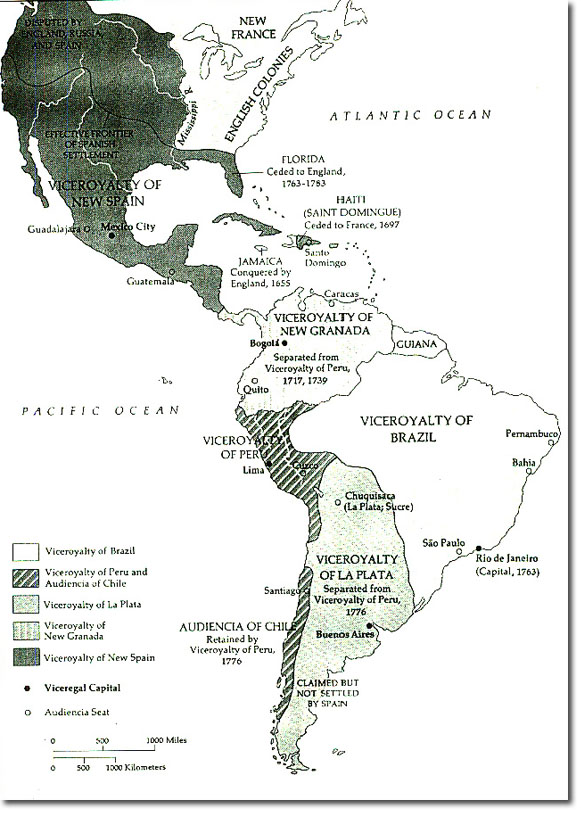 Colonial South America Map.South America And The British Empire