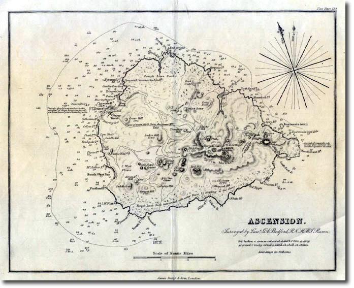 Atlantic Ocean Ascension Map - Ascension island google map