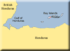 map of Bay Islands