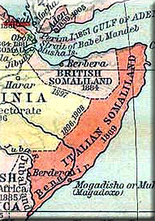 map of The British Somaliland