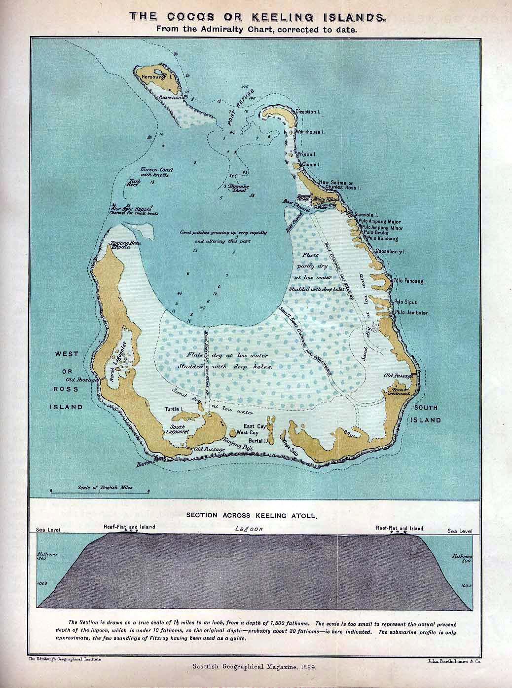 Cocos Islands Colony - Cocos islands map