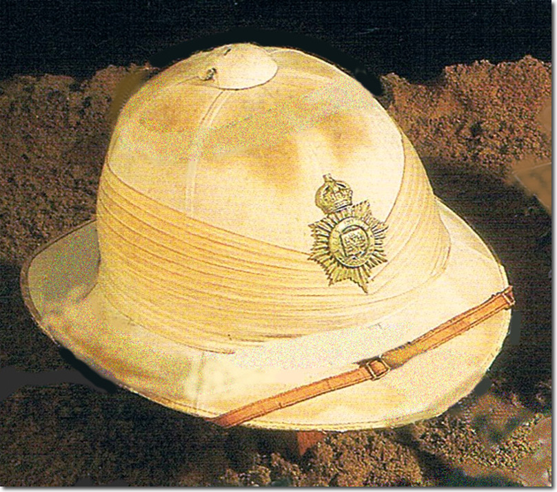 e425272b205ac It was in an auction at Bosleys in December 2004 and the catalogue says  that it is a private purchase foreign service helmet with a seven fold ...