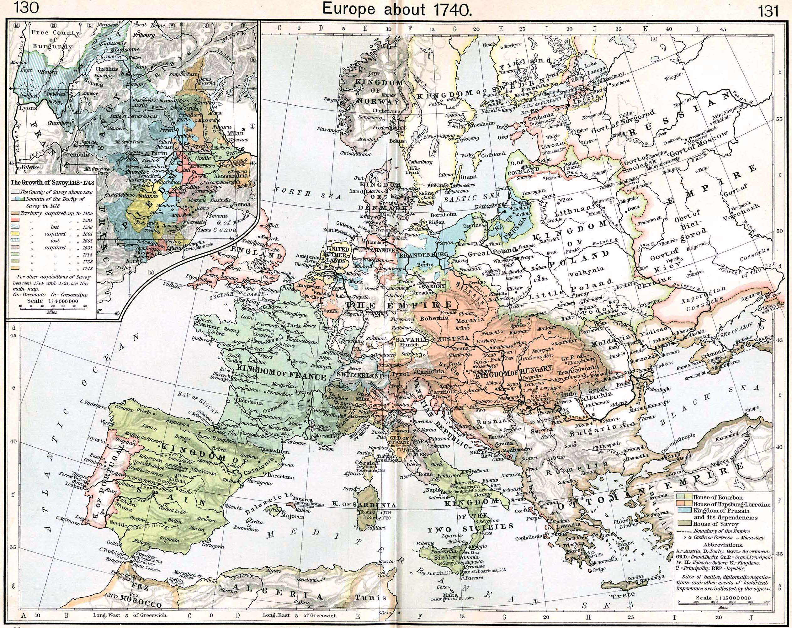 Map Of Europe 1780.Minorca Colony