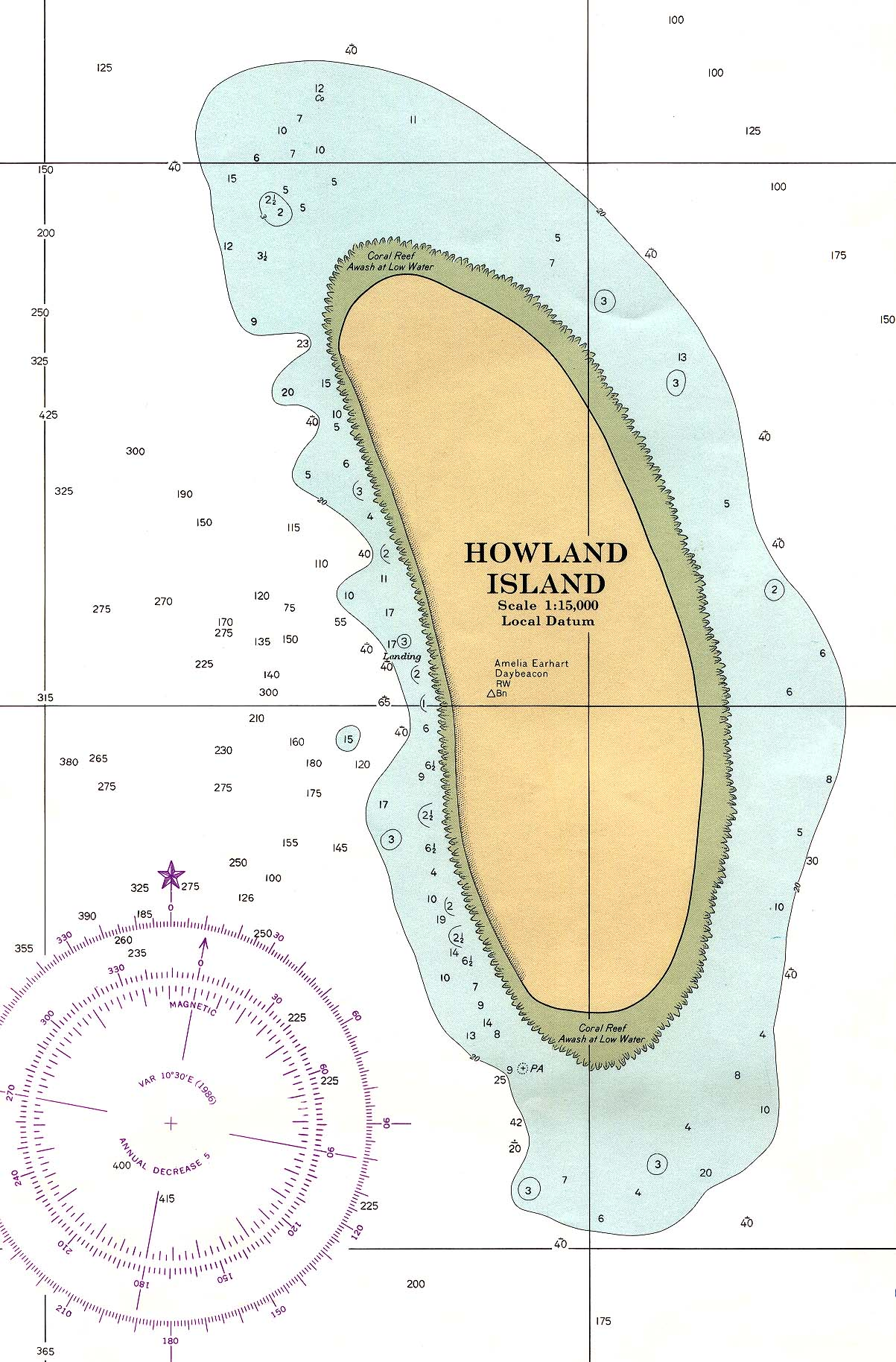 Howland Island On World Map.Howland Island