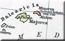map of Minorca