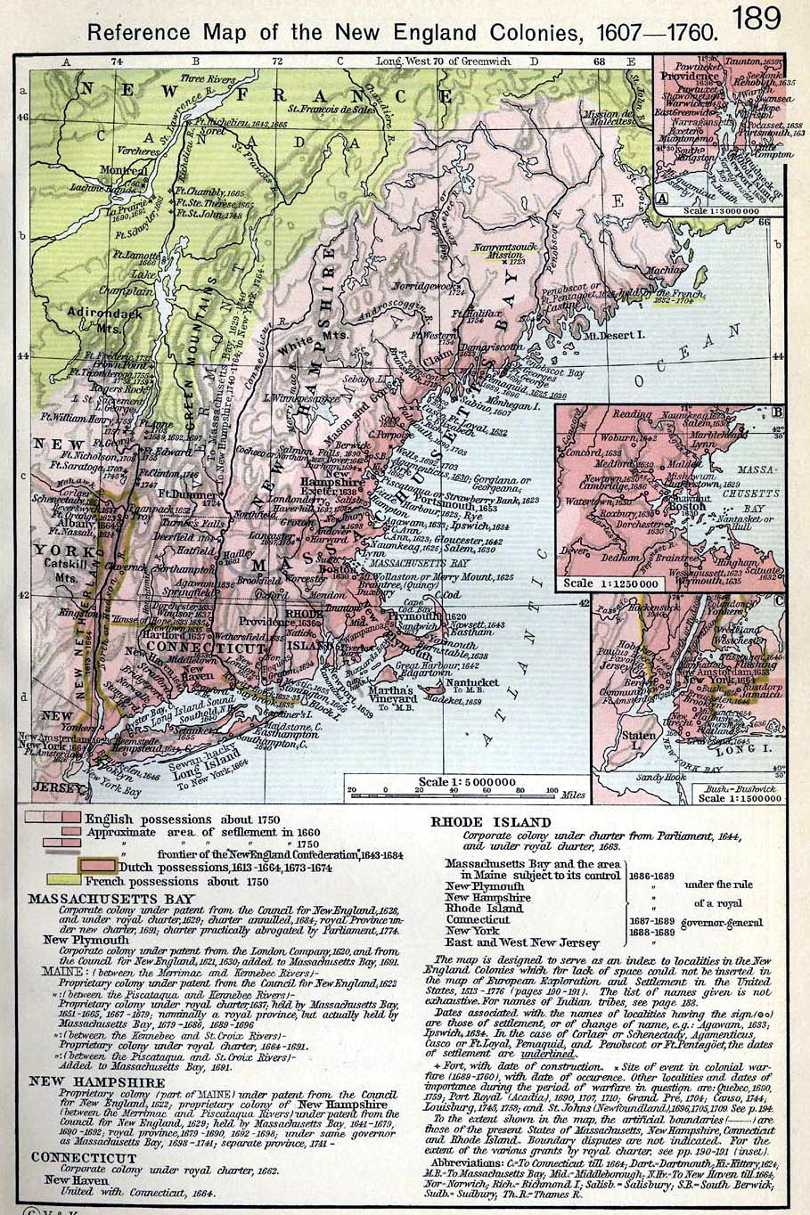 North America Maps - Map of north america 1700