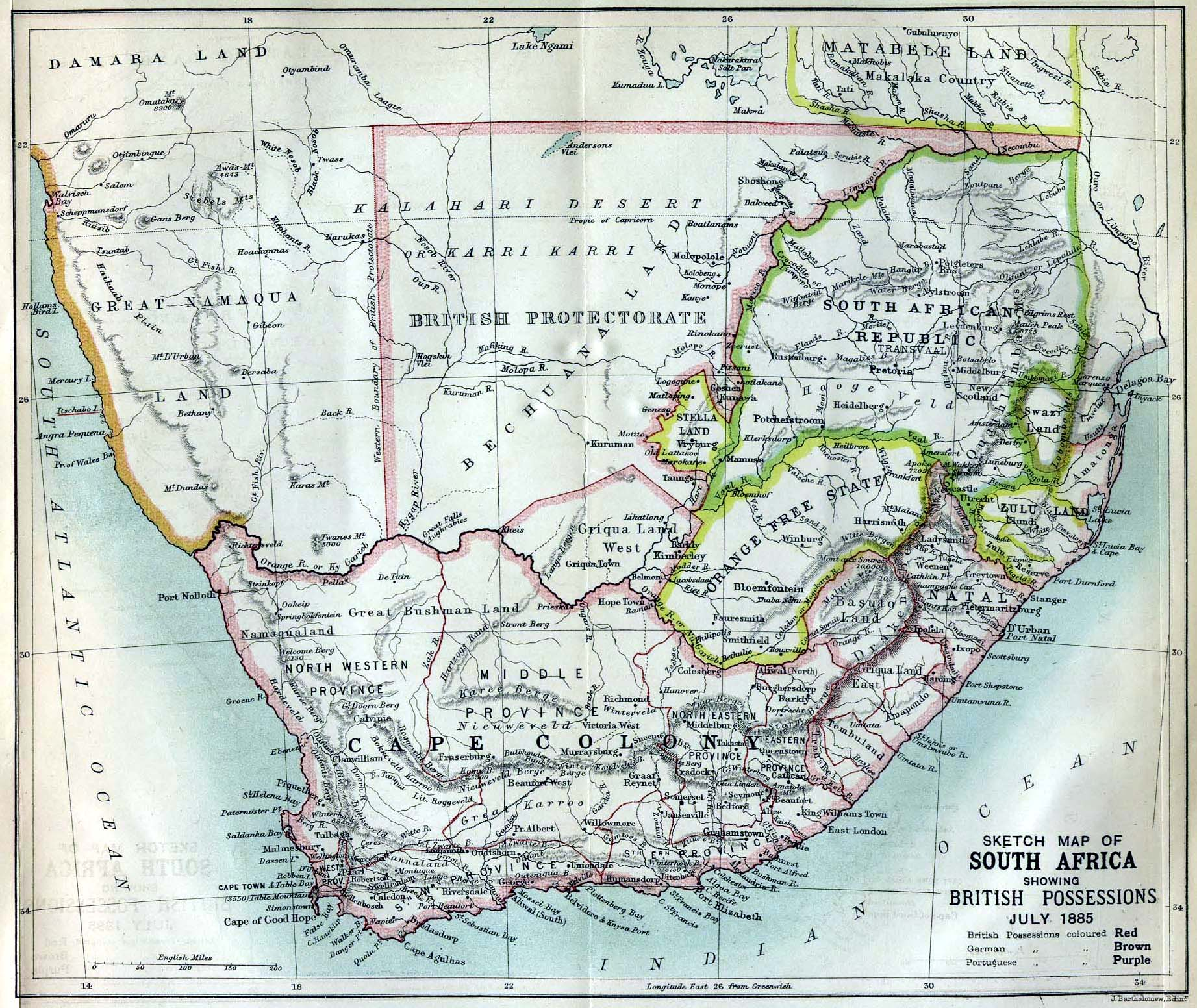 Transvaal Province, South Africa Circa 1885