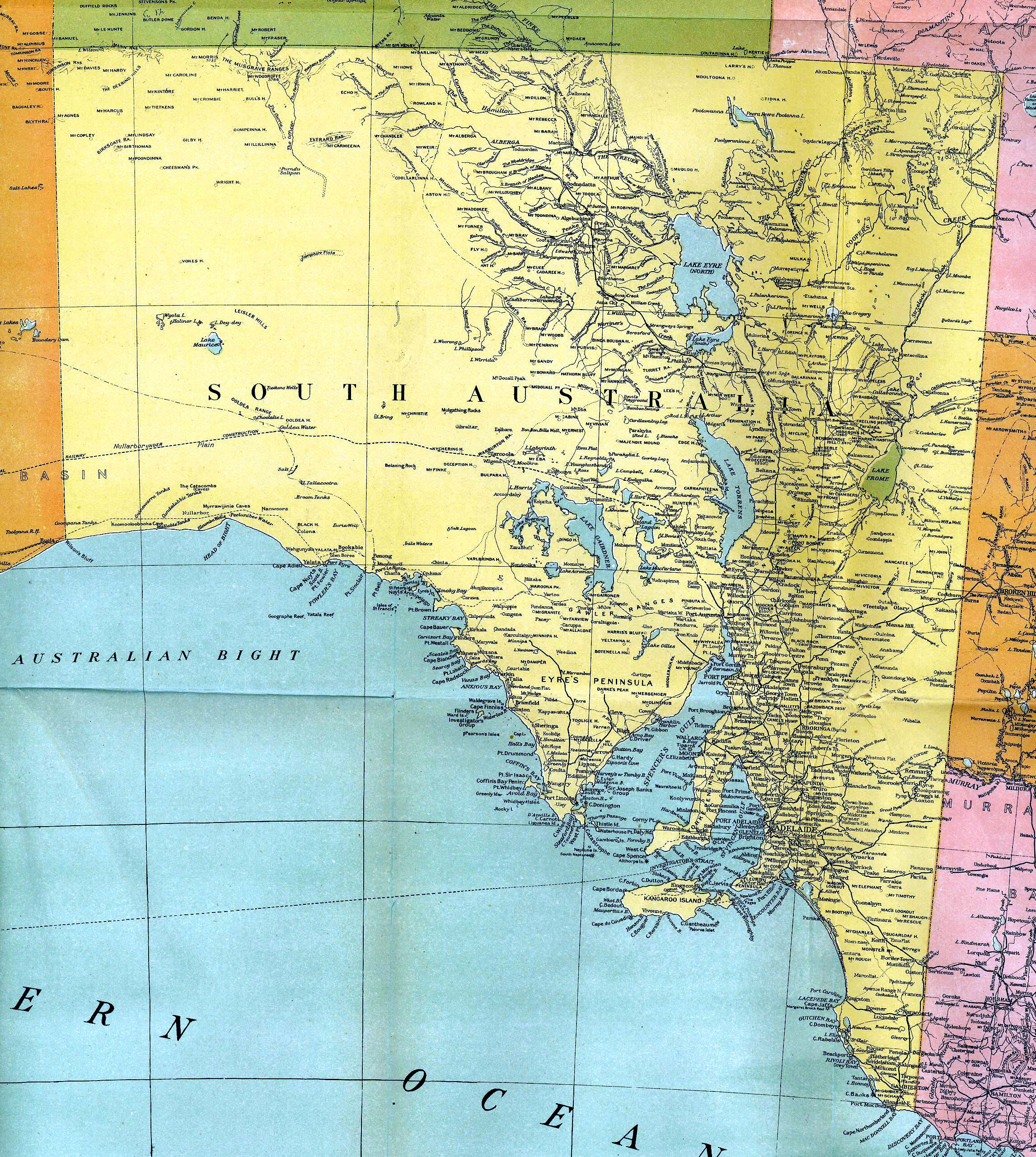 1916 map of south australia