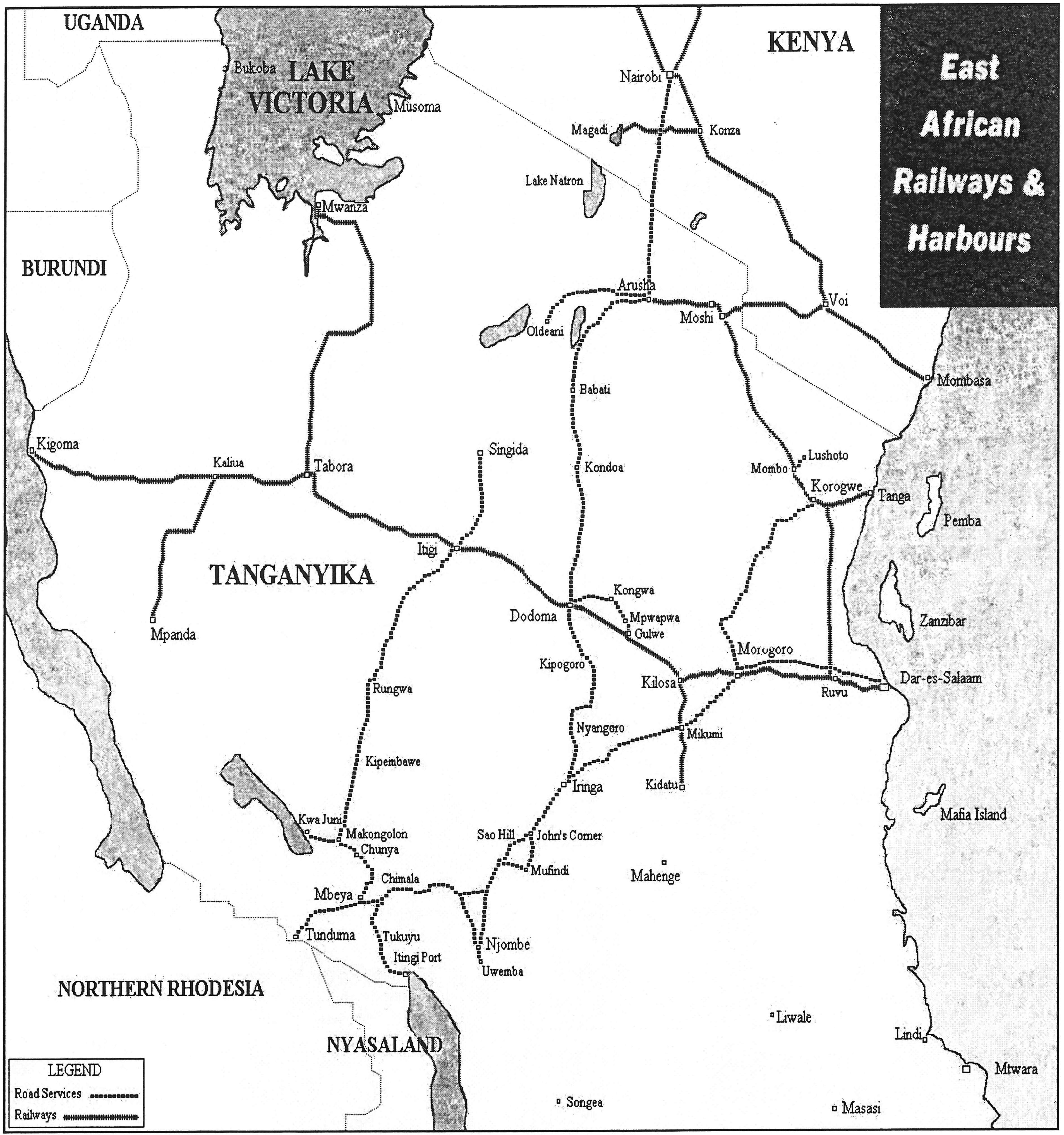 tanganyika mandate Germans in Argentina 1969 map of southern tanzania