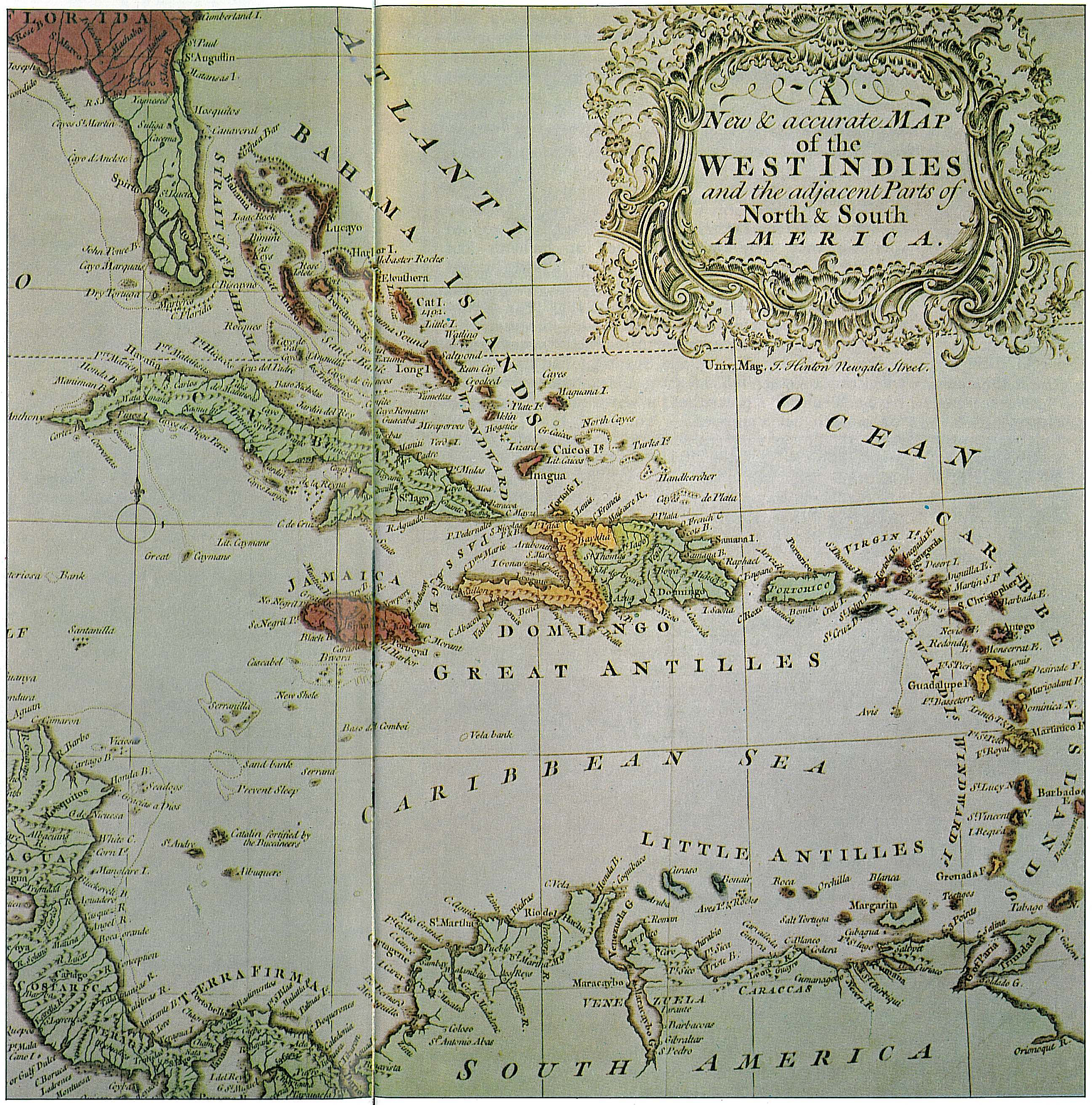 Galerry west indies caribbean islands map