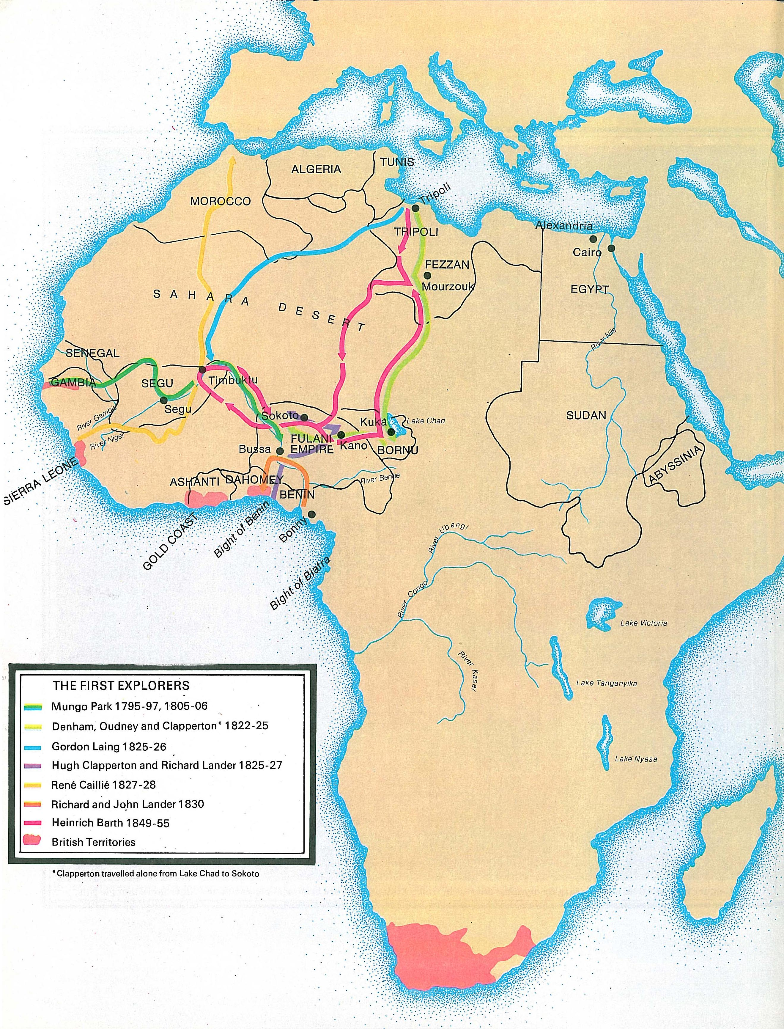 19th Century Africa Map.The British Empire In Africa