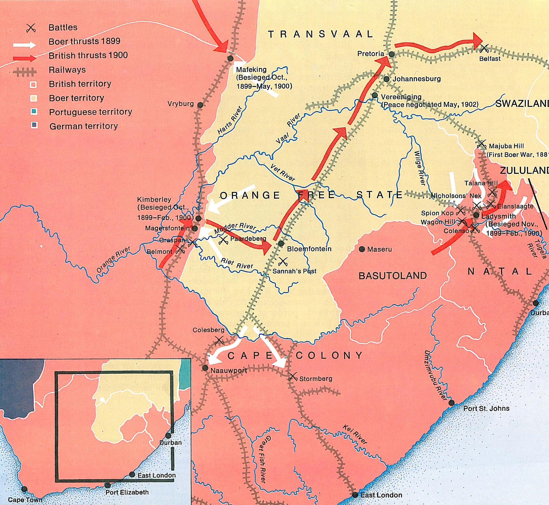 British Empire Map 1900.The British Empire In Africa