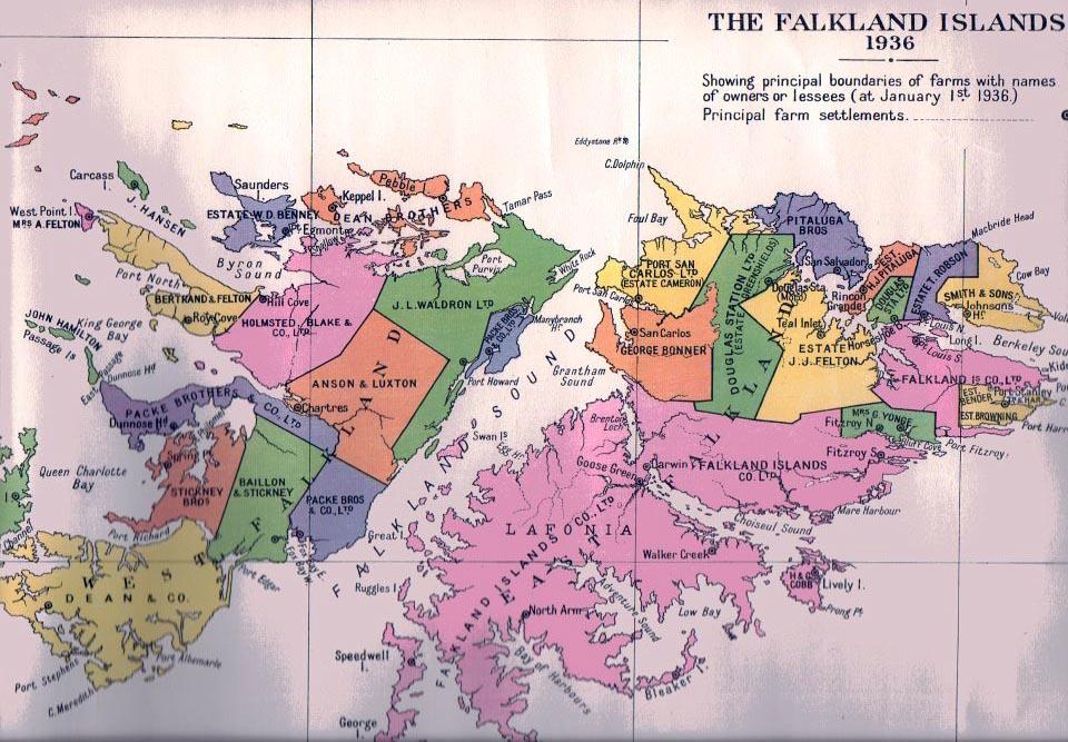 Falkland Islands Colony - Falkland islands map