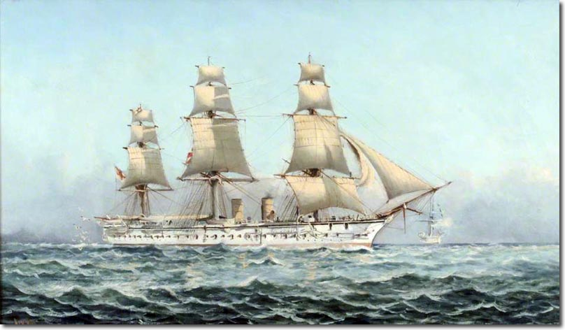 Naval forces of the British Empire: Ships: Corvette: HMS ...