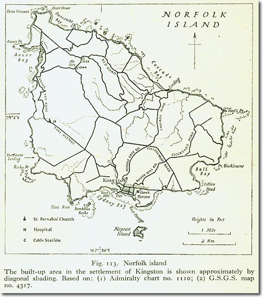 Pacific Norfolk Island Map