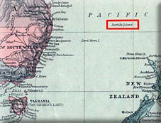 map of Norfolk Island