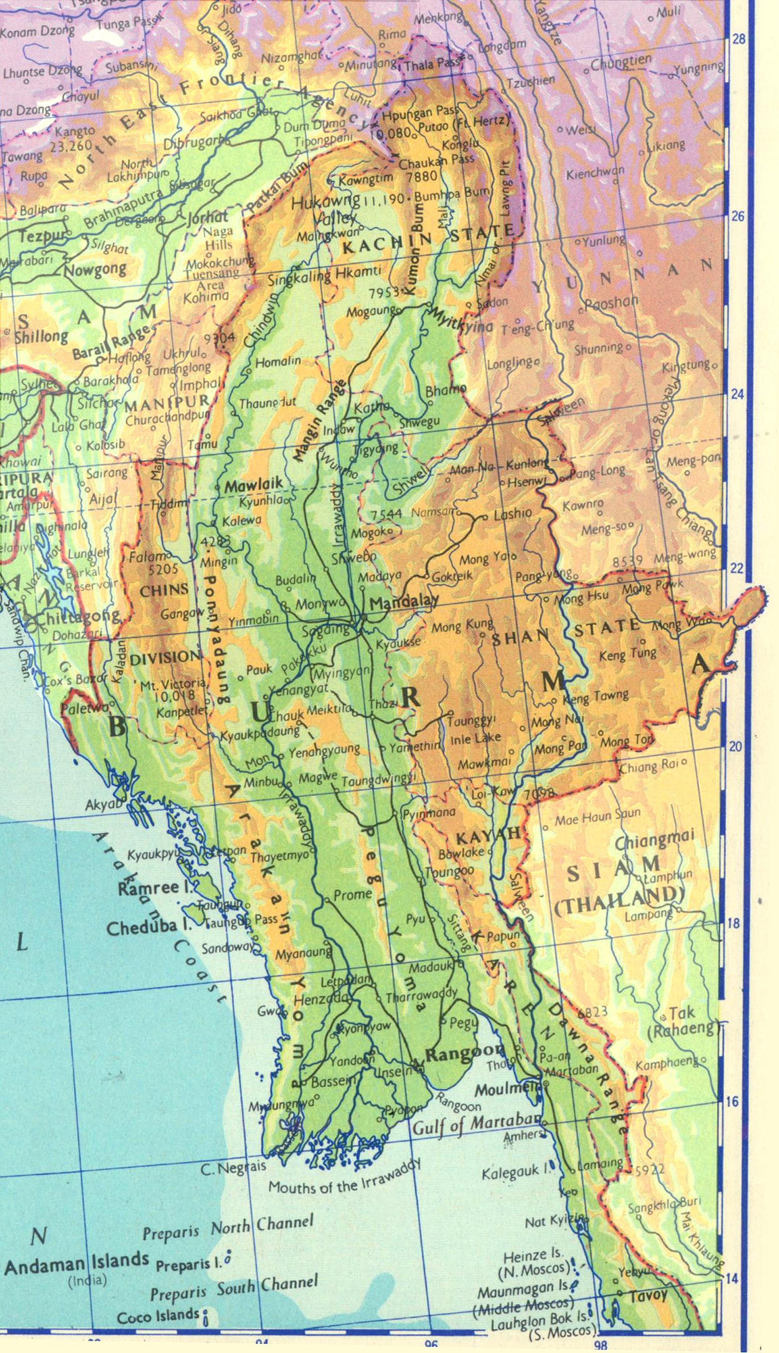 Map of Northern Burma