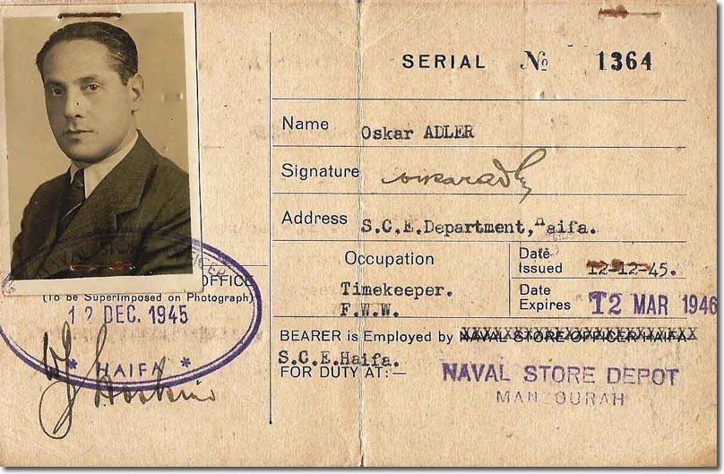 What Mandate >> Palestine: Identity Card