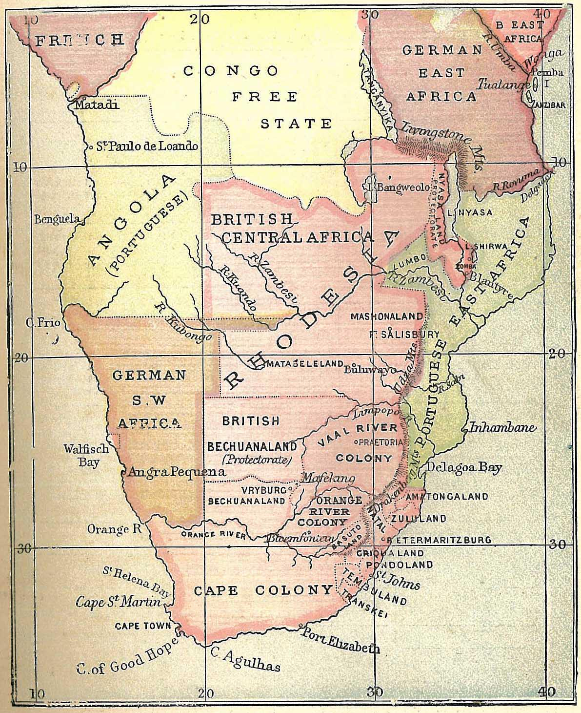africa map rhodesia