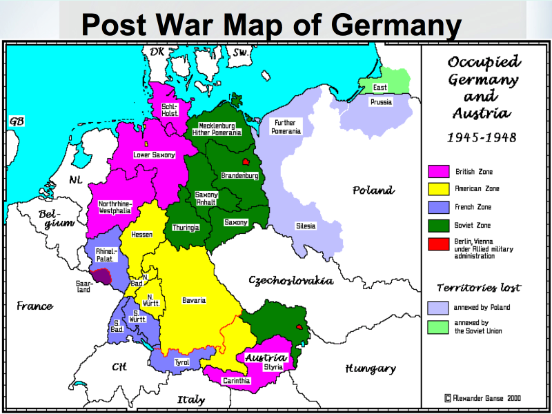 Map Of Germany 2000.Post War Map Of Germany